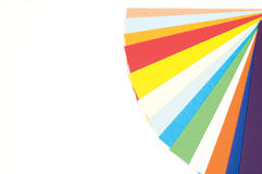 Color guide. Bright colorful sheets of paper royalty free stock images