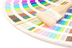 Color guide and brush Stock Photography