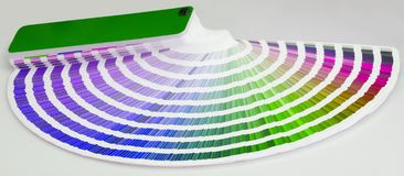 Color guide close-up Stock Photos