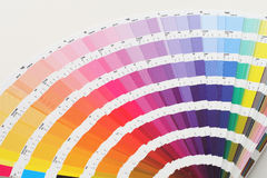 Color guide close up Stock Photos