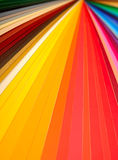 Color guide closeup. Color guide spectrum swatch samples rainbow on white background stock photos