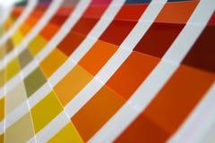 Color guide fan closeup stock image