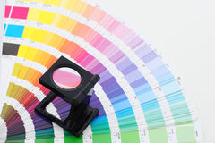 Color guide with lens. For image cheking royalty free stock photos