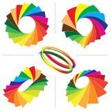 Color guide palette backgrounds stock illustration