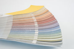 Color guide, palette of different colors Royalty Free Stock Photo