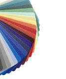Color guide,plastic texture. Plastic color guide on white. Clipping path royalty free stock images