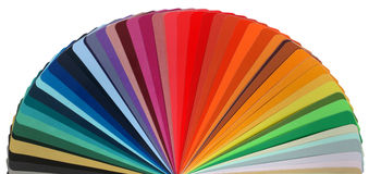 Color guide rainbow Stock Images