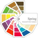 Color guide. Seasonal color analysis palette for spring type. For your design vector illustration
