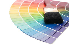 Color guide for selection and paintbrush Royalty Free Stock Photos