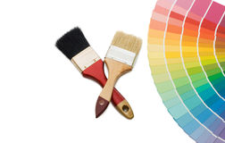 Color guide for selection and paintbrush Royalty Free Stock Image