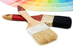 Color guide for selection and paintbrush Royalty Free Stock Photo