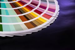 Color guide spectrum samples  Stock Photos
