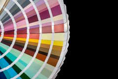 Color guide spectrum samples isolated royalty free stock photo