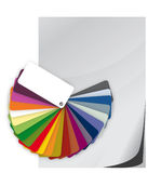 Color guide spectrum swatch and blank paper Royalty Free Stock Images
