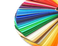Color guide spectrum swatch samples rainbow. On white background royalty free stock photos
