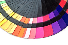 Color guide spectrum swatch samples rainbow Royalty Free Stock Photo
