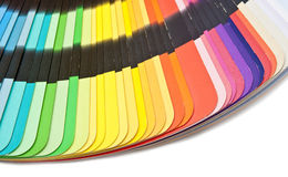 Color guide spectrum swatch samples rainbow Stock Photo