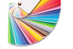 Color guide spectrum swatch Stock Photography