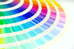 Color guide swatch Stock Image