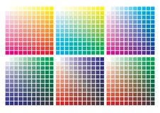 Vector color palette on A4 format. Paper size 297 x 210 mm vector illustration