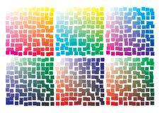 Vector color palette on A4 format. Details chaotically scattered. Vector color palette on A4 format, paper size 297 x 210 mm. Details chaotically moved royalty free illustration