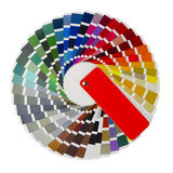 Color guide. On a white background royalty free stock photo