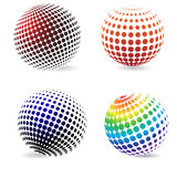 Color halftone circles . Stock Photos