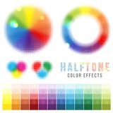 Color halftone effects Royalty Free Stock Image