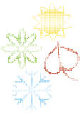 Color halftone season icons Royalty Free Stock Images