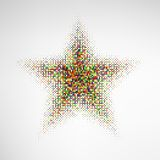 Color Halftone Star Stock Photography