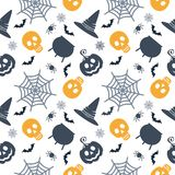 Color halloween seamless pattern Stock Photography