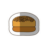 color hamburger bread icon Royalty Free Stock Photo
