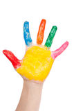 Color hand Stock Images