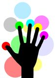 Color hand Stock Image