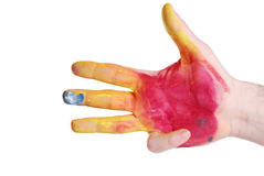 Color hand Royalty Free Stock Image