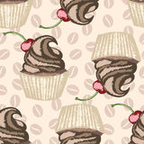 Color hand drawn cupcakes Royalty Free Stock Photography