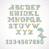 Color hand drawn font Royalty Free Stock Photo