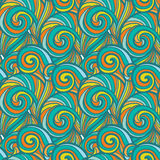 Color hand drawn pattern Stock Photography