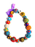 Color hand made beads Royalty Free Stock Image