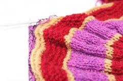 Color handmade needle knitting Stock Photos