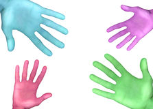 Color Hands. Colorful Hands Stock Illustration