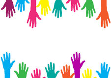 Color hands background Royalty Free Stock Image