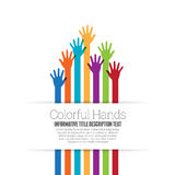 Color Hands Space Royalty Free Stock Photos