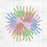 Color hands symbol Stock Image
