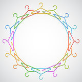 Color hangers. Royalty Free Stock Photos