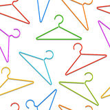 Color hangers pattern. Stock Images