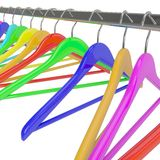 Color  hangers Stock Photos