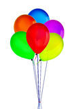 Color happy holiday air flying balloons isolated on white Royalty Free Stock Photo