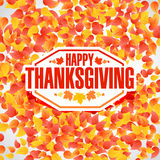 Color Happy thanksgiving stamp Royalty Free Stock Image