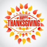 Color Happy thanksgiving stamp Royalty Free Stock Photo